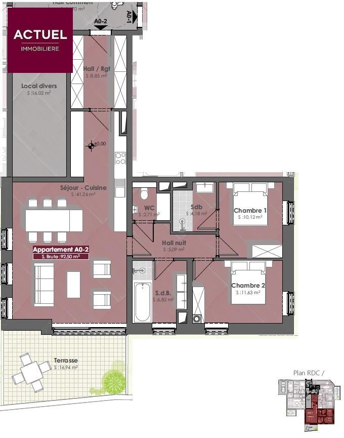 acheter appartement 2 chambres 100.58 m² diekirch photo 3