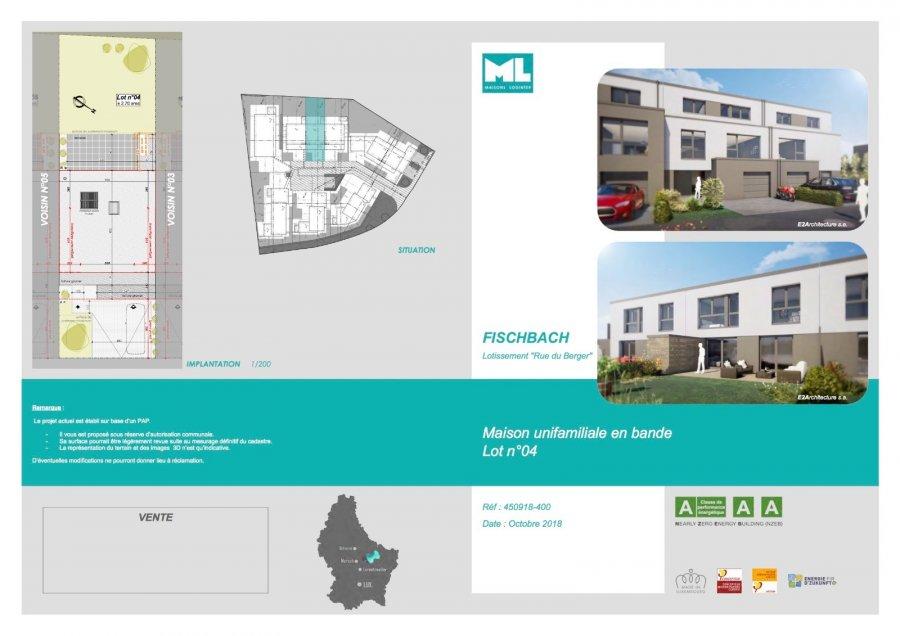 acheter maison mitoyenne 4 chambres 164 m² fischbach (mersch) photo 4