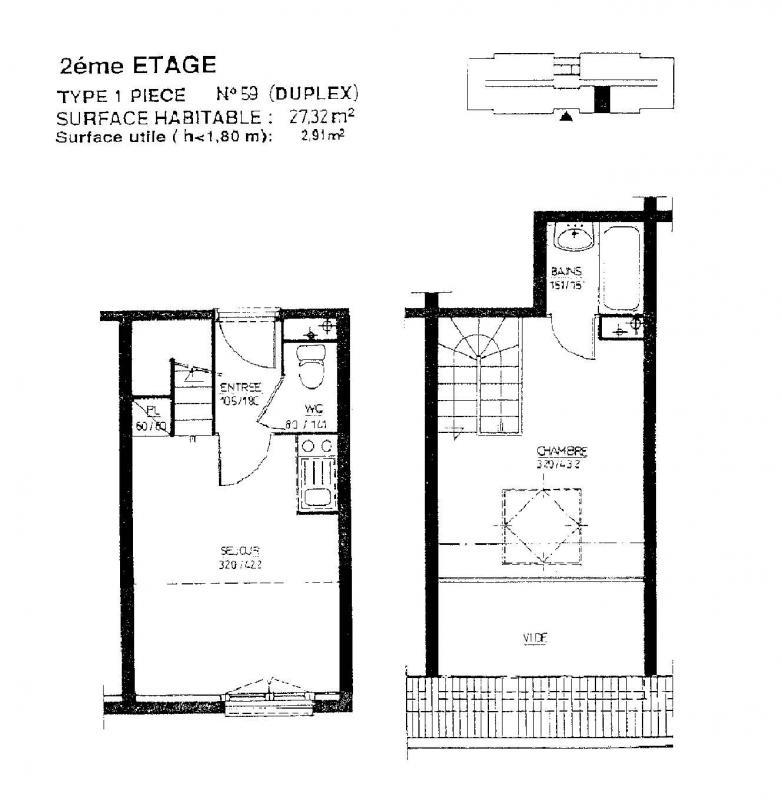 louer duplex 1 pièce 27 m² vandoeuvre-lès-nancy photo 2