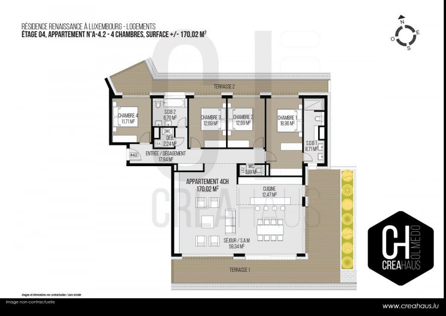 acheter appartement 4 chambres 170.02 m² luxembourg photo 2