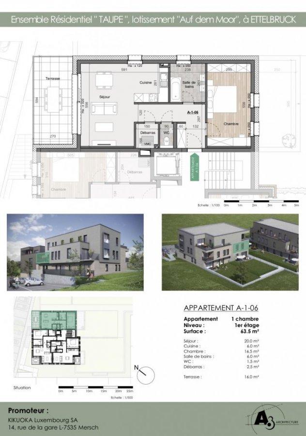 acheter appartement 1 chambre 64 m² ettelbruck photo 2