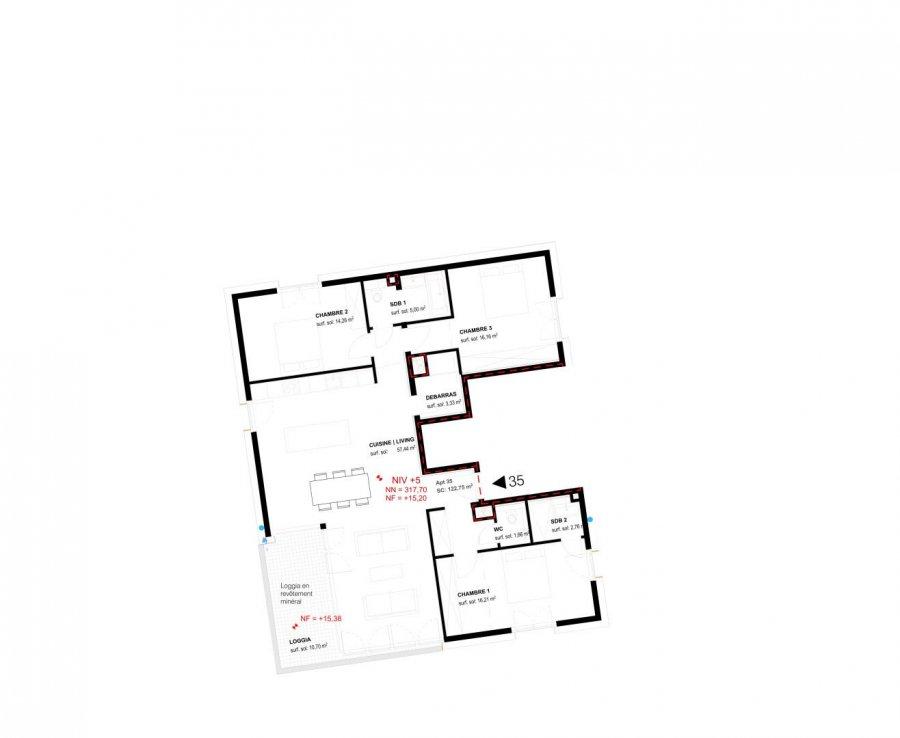 acheter appartement 3 chambres 122.8 m² belval photo 2