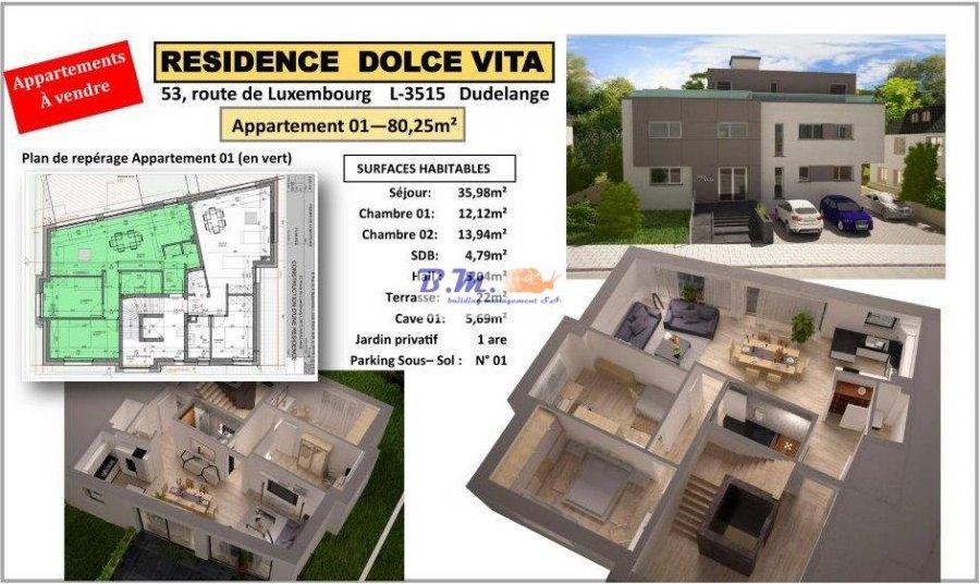 apartment for buy 2 bedrooms 80.5 m² dudelange photo 1