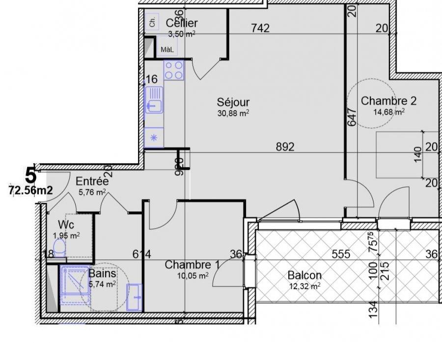 acheter appartement 3 pièces 72.56 m² yutz photo 2