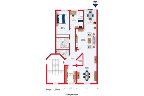 wohnung mieten 4 zimmer 107 m² saarlouis foto 2