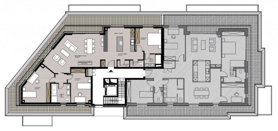 Penthouse à vendre 3 chambres à Bridel