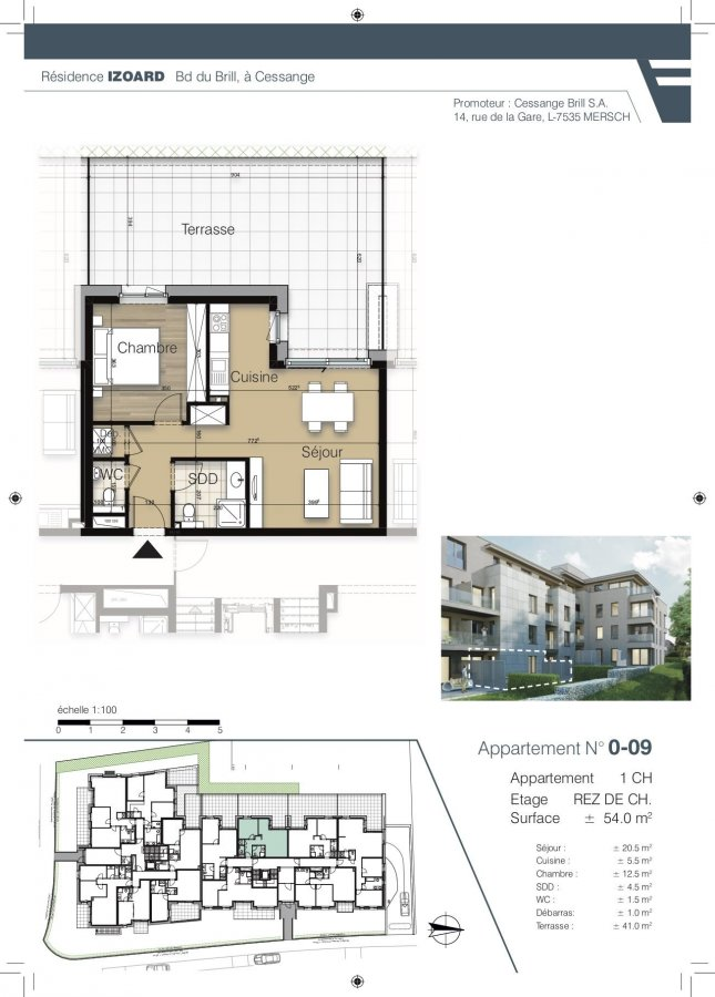 apartment for buy 1 bedroom 53.7 m² luxembourg photo 1