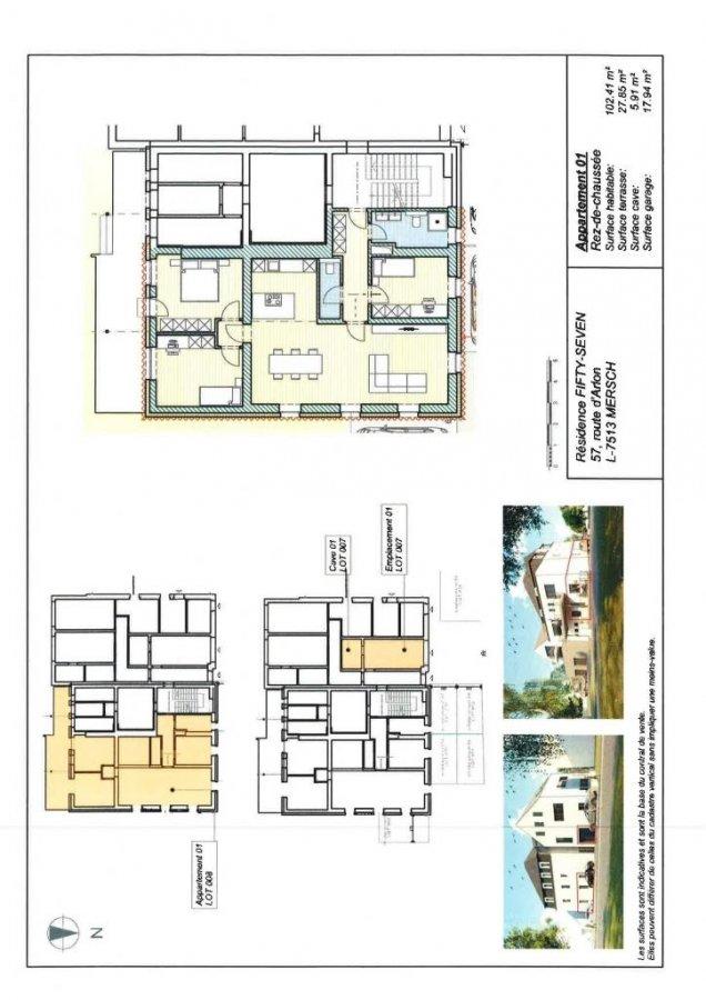 acheter appartement 3 chambres 102.41 m² mersch photo 3