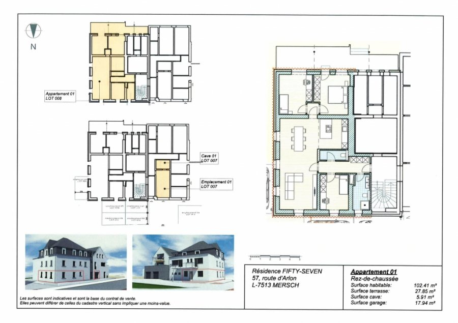 acheter appartement 3 chambres 102.41 m² mersch photo 2