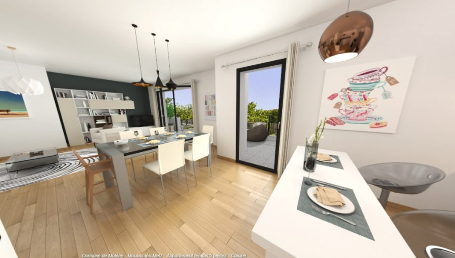 acheter appartement 5 pièces 109.66 m² moulins-lès-metz photo 2