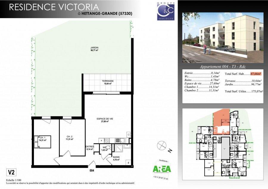 acheter appartement 3 pièces 66.31 m² hettange-grande photo 3
