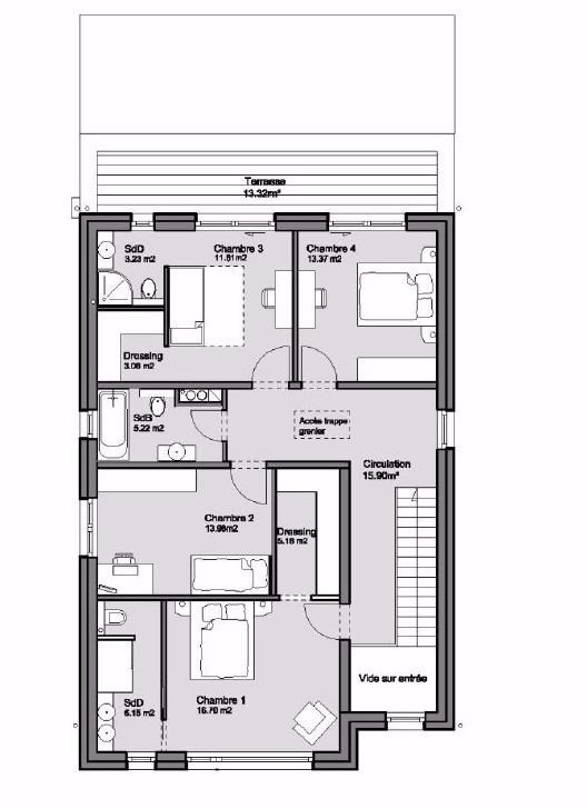 Maison individuelle à vendre 4 chambres à Hunsdorf