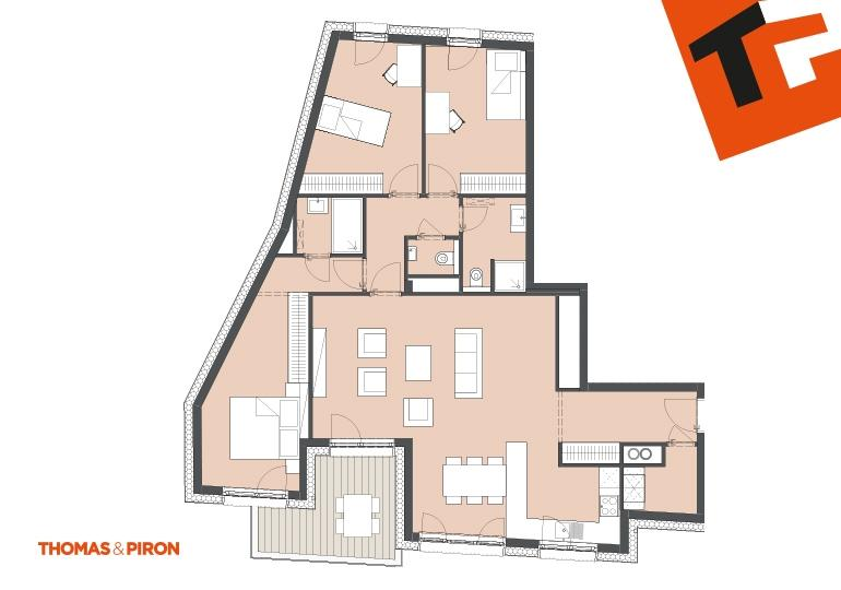 apartment for buy 3 bedrooms 115.08 m² schifflange photo 1