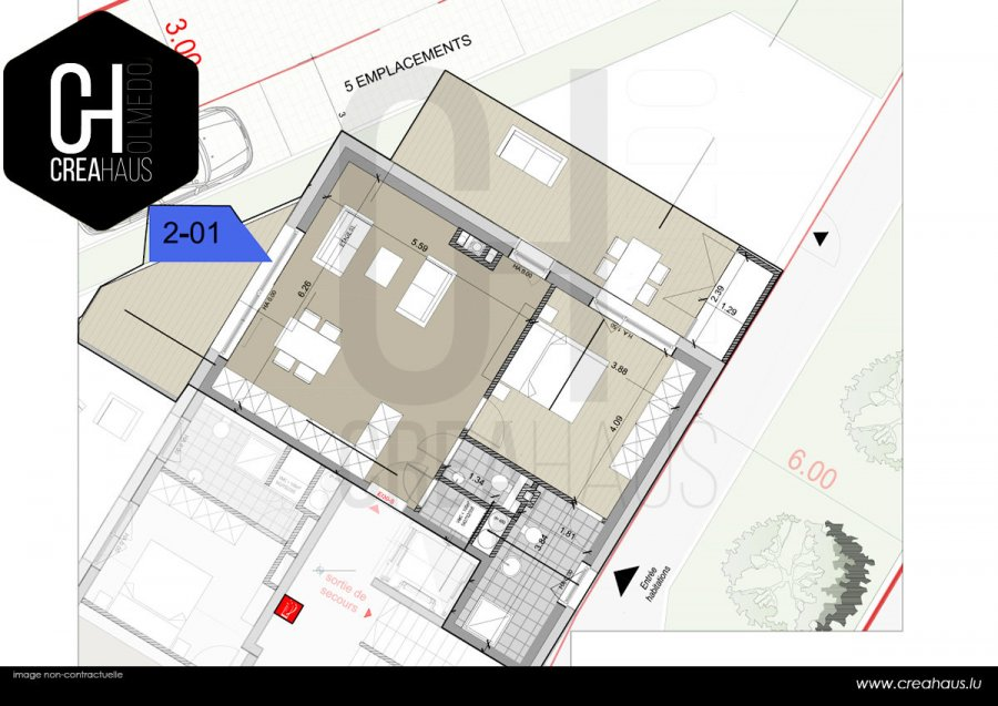 acheter appartement 1 chambre 61.42 m² mamer photo 2