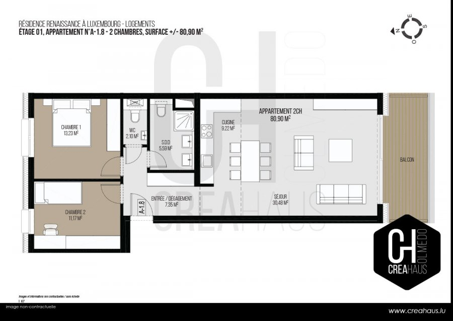 apartment for buy 2 bedrooms 80.9 m² luxembourg photo 3