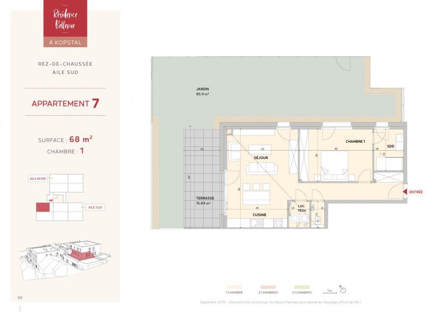 wohnung kaufen 1 schlafzimmer 68 m² kopstal foto 3