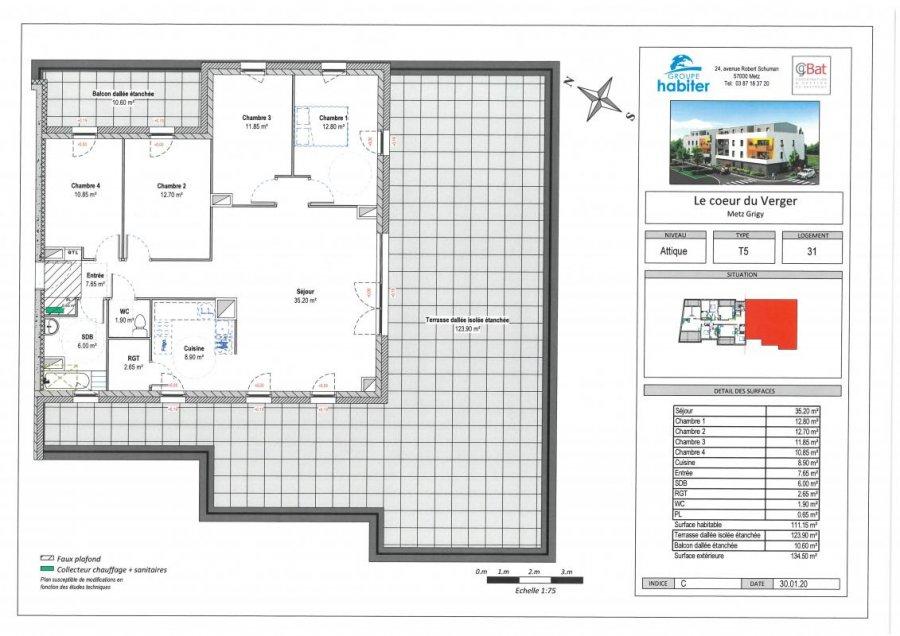 acheter appartement 6 pièces 111 m² metz photo 1