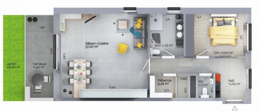 acheter appartement 1 chambre 76.78 m² ettelbruck photo 4