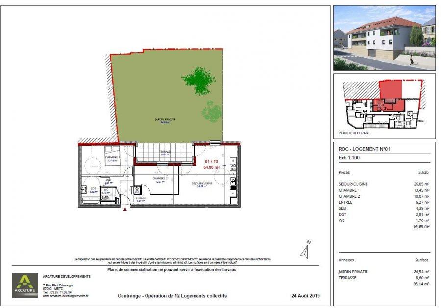 acheter appartement 3 pièces 64.81 m² thionville photo 3