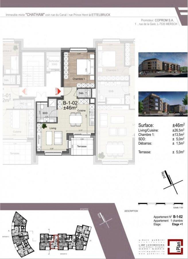 acheter appartement 1 chambre 47.91 m² ettelbruck photo 4