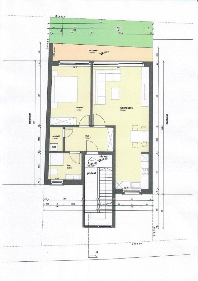wohnung kaufen 2 zimmer 61.45 m² trier foto 2