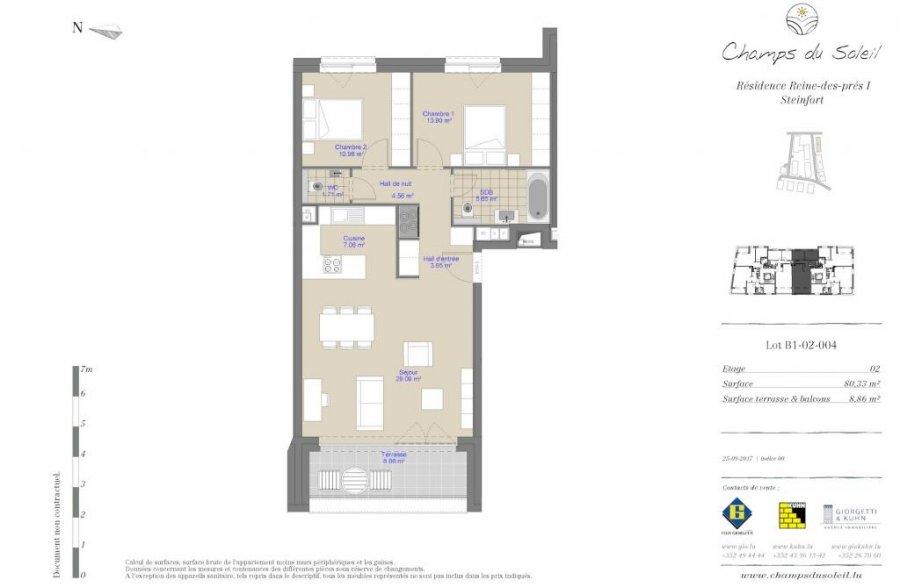 acheter appartement 2 chambres 81.36 m² steinfort photo 2