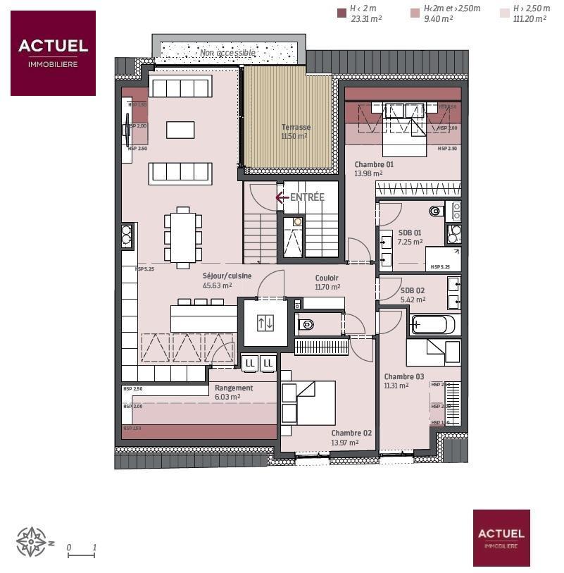 acheter penthouse 3 chambres 146.25 m² pétange photo 2