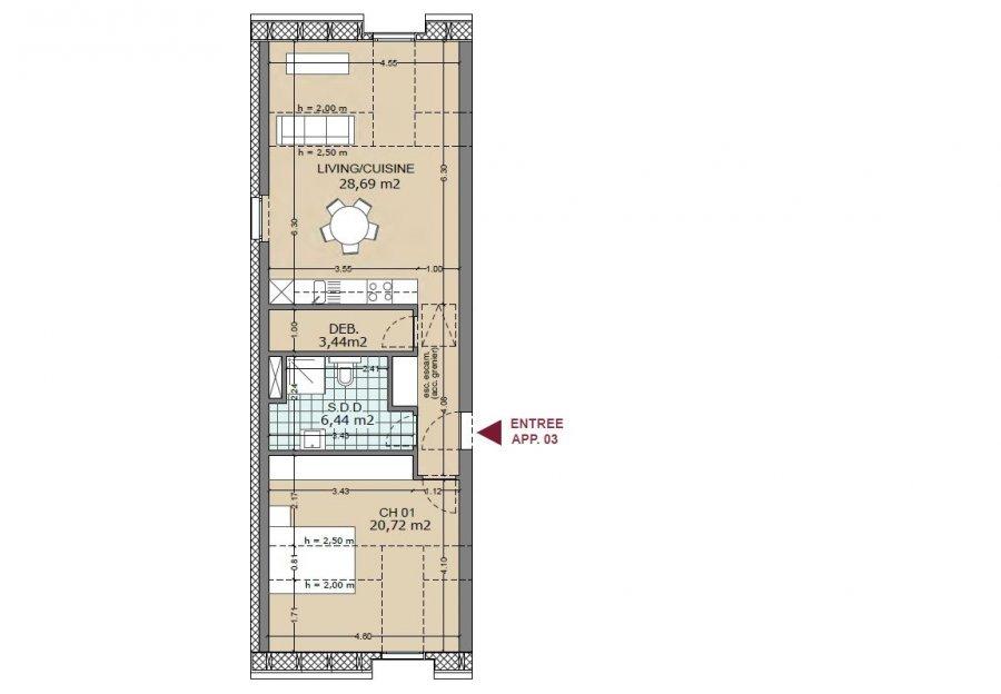 acheter appartement 1 chambre 64 m² lamadelaine photo 3