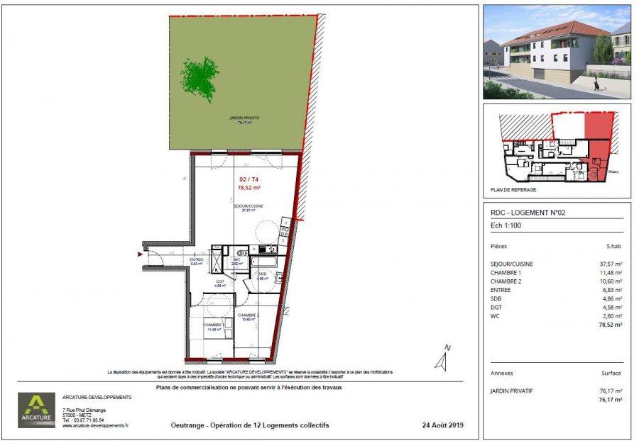 acheter appartement 4 pièces 78.58 m² thionville photo 3