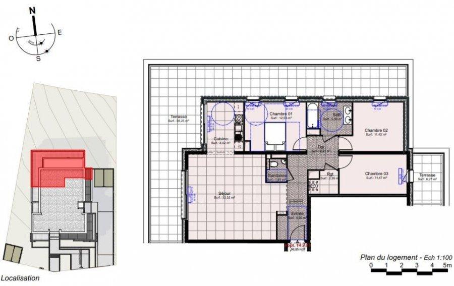 acheter appartement 4 pièces 98.85 m² thionville photo 2