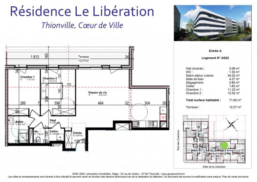 acheter appartement 3 pièces 71.6 m² thionville photo 2