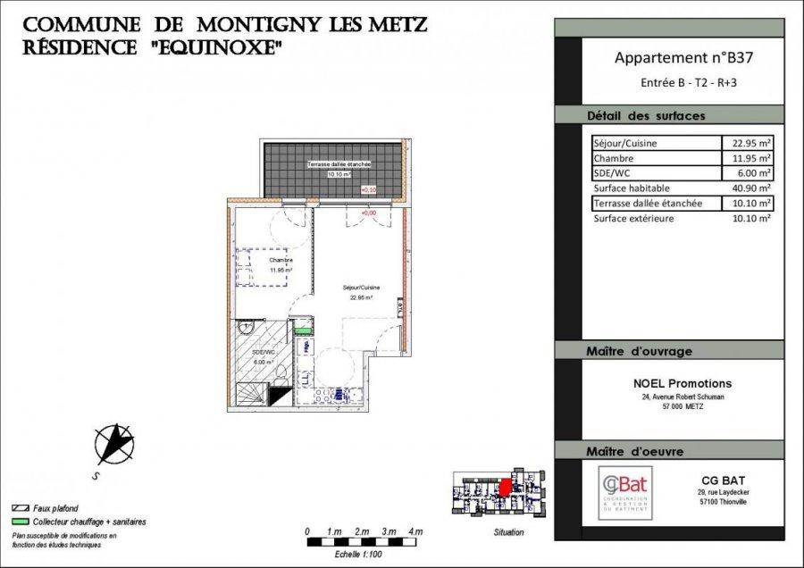 acheter appartement 2 pièces 40 m² montigny-lès-metz photo 1