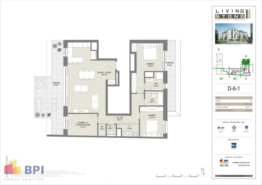 acheter appartement 3 chambres 111.91 m² luxembourg photo 2