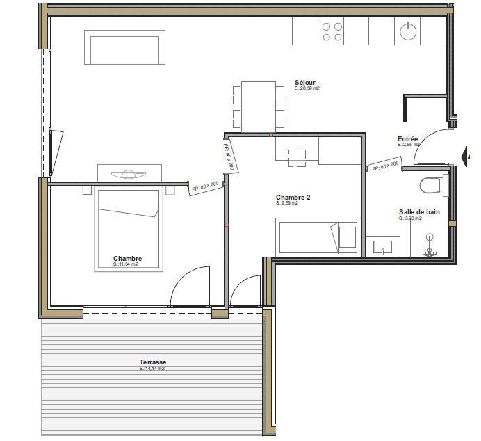 acheter appartement 2 pièces 36 m² audun-le-tiche photo 7