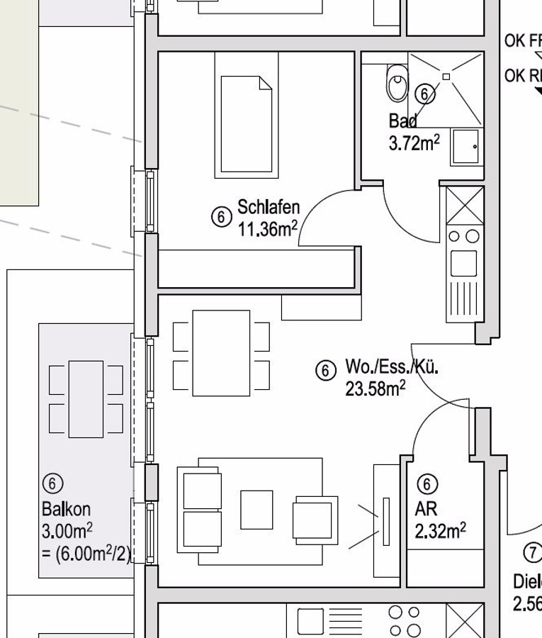 wohnung kaufen 2 zimmer 43.98 m² wadern foto 6