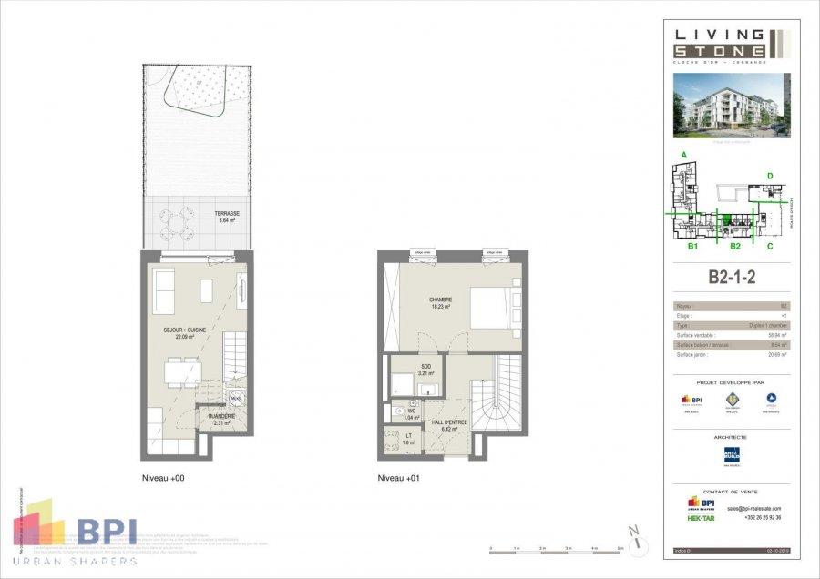 acheter duplex 1 chambre 62.4 m² luxembourg photo 2