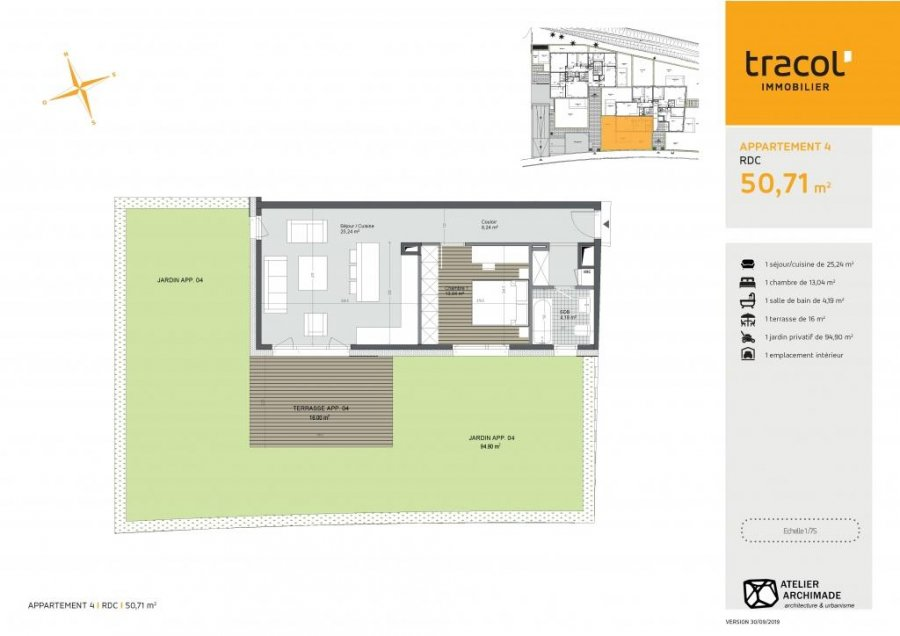 apartment for buy 1 bedroom 50.71 m² ersange photo 3