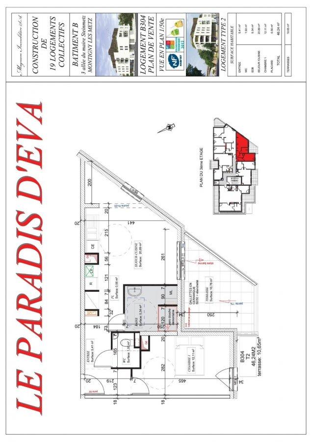 acheter appartement 2 pièces 46.24 m² montigny-lès-metz photo 3