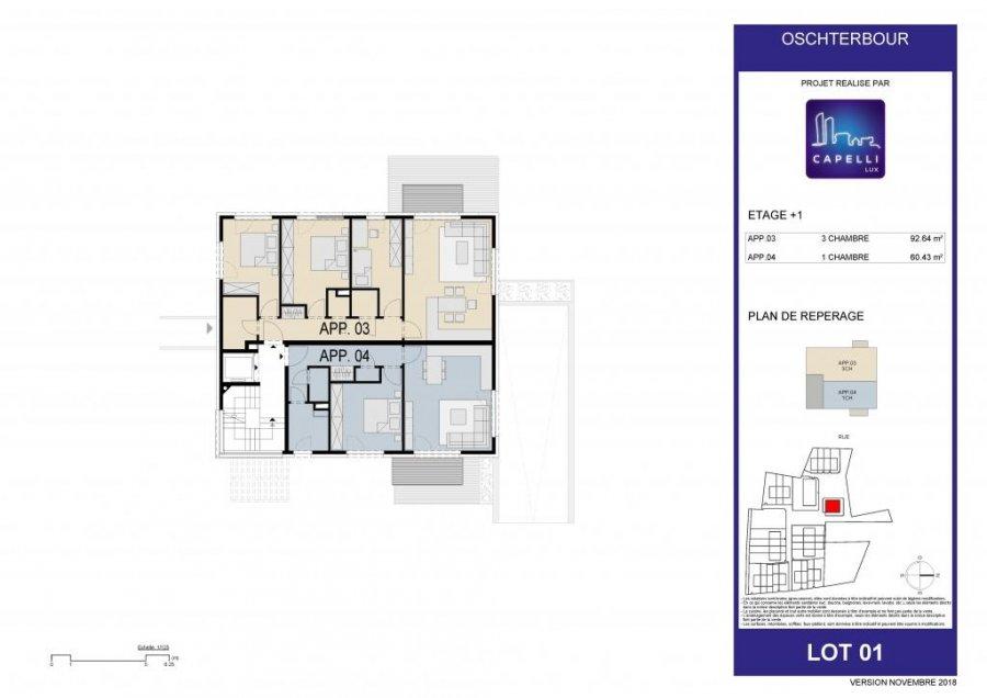 acheter appartement 1 chambre 60.43 m² differdange photo 7