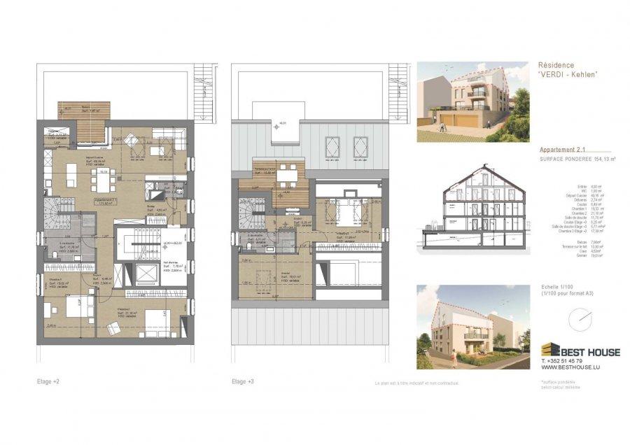 acheter penthouse 3 chambres 154 m² kehlen photo 3