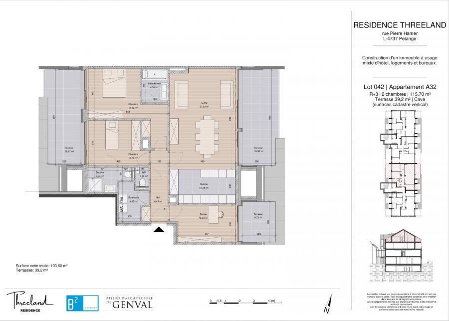 acheter appartement 3 chambres 116 m² pétange photo 2
