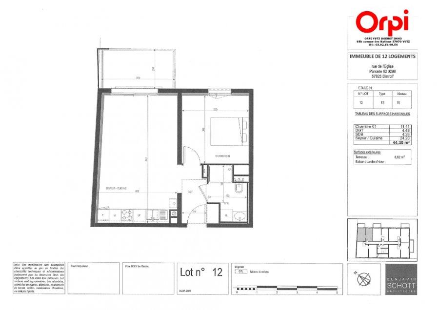 acheter appartement 2 pièces 44.3 m² distroff photo 3
