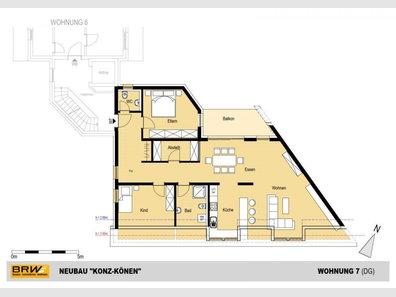 Penthouse à vendre 2 Chambres à Konz-Könen - Réf. 6916345