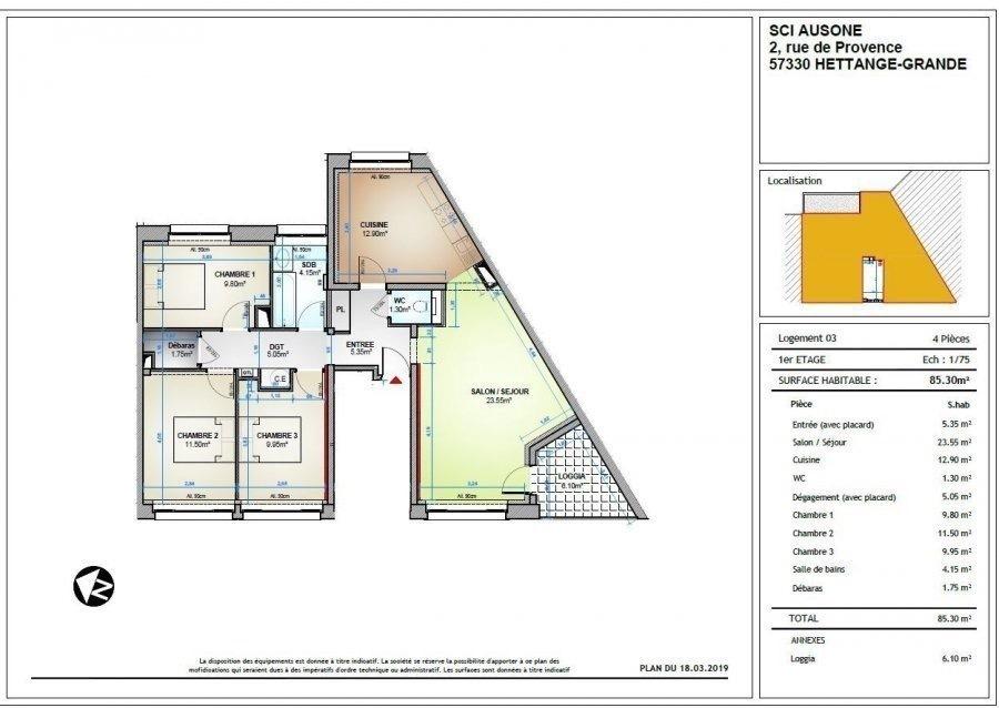 louer appartement 4 pièces 85.3 m² thionville photo 1