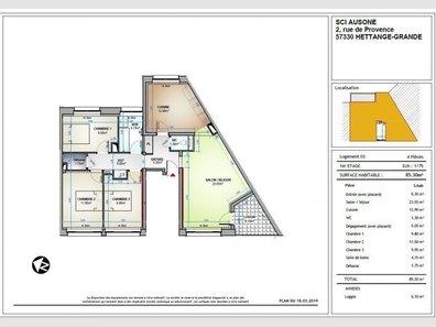 Appartement à louer F4 à Thionville-Centre Ville - Réf. 7002361
