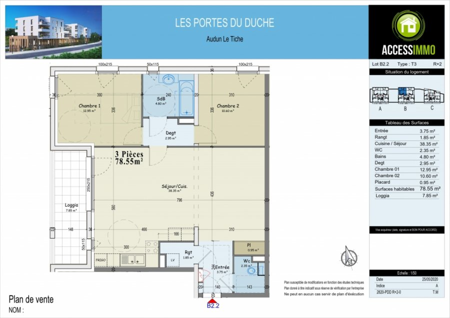 acheter appartement 0 pièce 78.55 m² audun-le-tiche photo 3