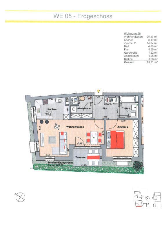 acheter appartement 2 pièces 68.51 m² trier photo 2