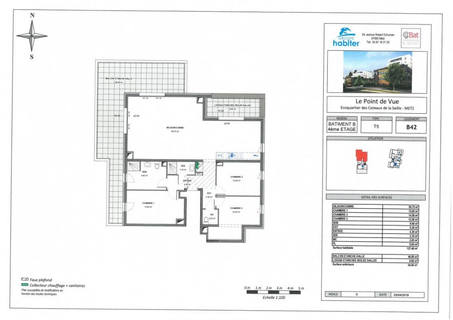 acheter appartement 5 pièces 127 m² metz photo 1