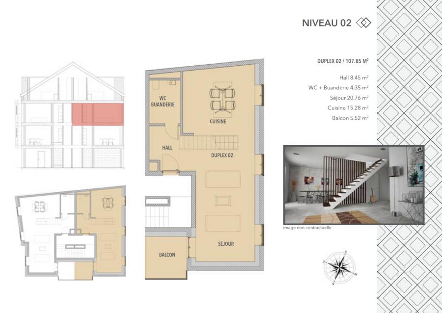 acheter appartement 2 chambres 107.85 m² schifflange photo 5