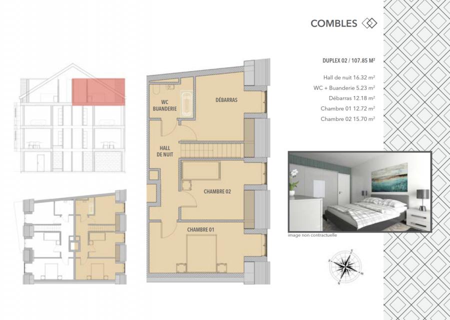 acheter appartement 2 chambres 107.85 m² schifflange photo 6